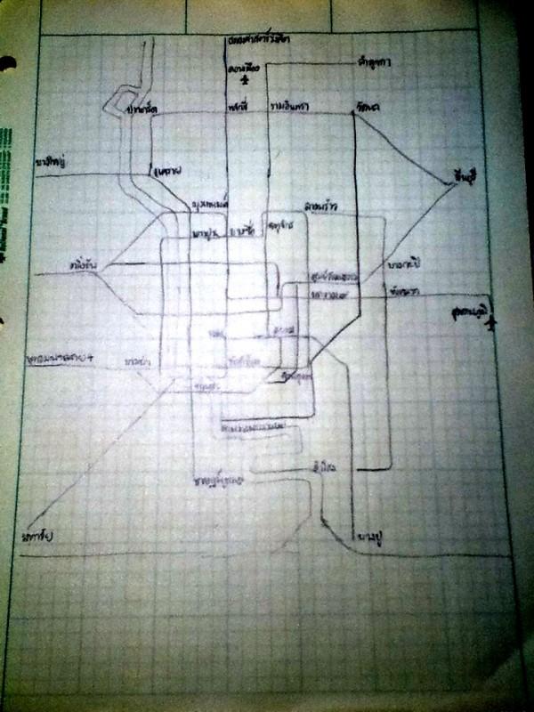 Bangkok transit sketch on engineering paper, 2012-08-19, Oran Viriyincy