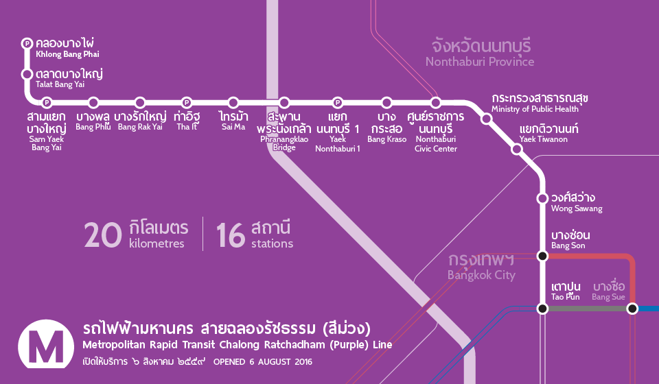 MRT Purple Line map as an extract of the main map